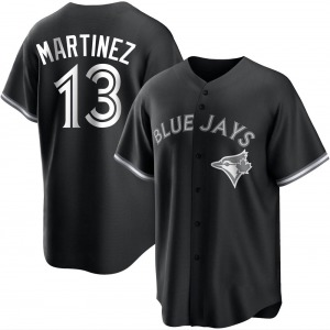 Buck Martinez Toronto Blue Jays Replica Black/ Jersey - White