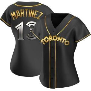 Buck Martinez Toronto Blue Jays Women's Replica Alternate Jersey - Black Golden