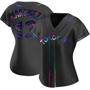 Buck Martinez Toronto Blue Jays Women's Replica Alternate Jersey - Black Holographic