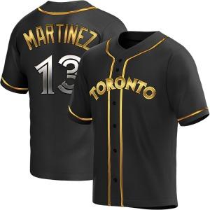 Buck Martinez Toronto Blue Jays Youth Replica Alternate Jersey - Black Golden