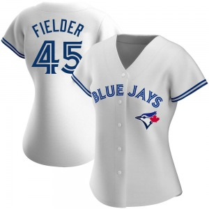 Cecil Fielder Toronto Blue Jays Women's Authentic Home Jersey - White