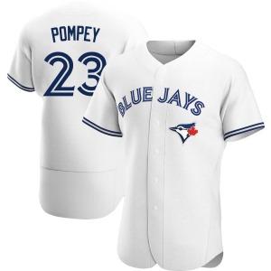Dalton Pompey Toronto Blue Jays Authentic Home Jersey - White