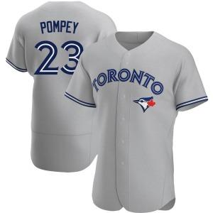 Dalton Pompey Toronto Blue Jays Authentic Road Jersey - Gray