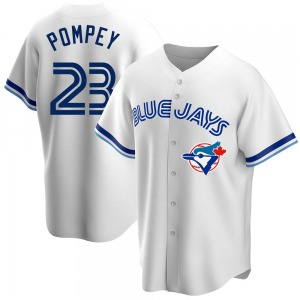 Dalton Pompey Toronto Blue Jays Youth Replica Home Cooperstown Collection Jersey - White