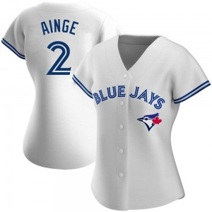 Danny Ainge Toronto Blue Jays Women's Authentic Home Jersey - White