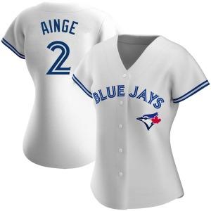 Danny Ainge Toronto Blue Jays Women's Replica Home Jersey - White