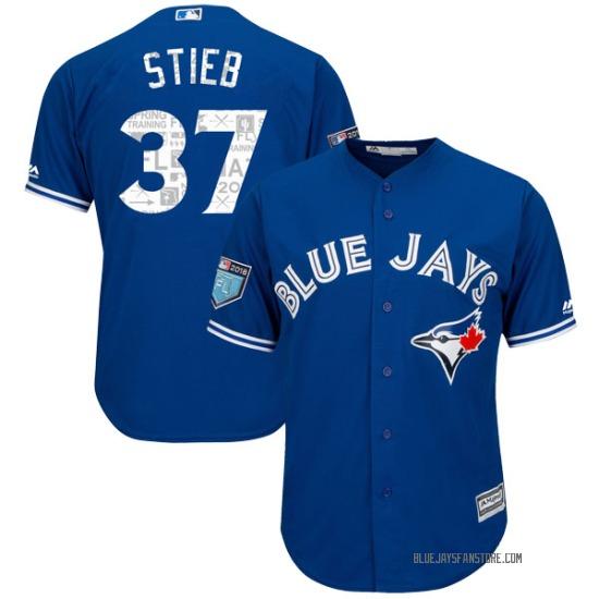 Dave Stieb Toronto Blue Jays Authentic Cool Base 2018 Spring Training Majestic Jersey - Royal