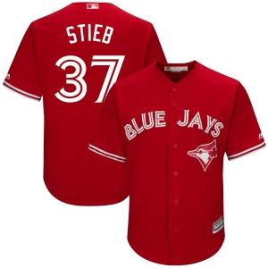 Dave Stieb Toronto Blue Jays Youth Replica Cool Base Alternate Majestic Jersey - Scarlet