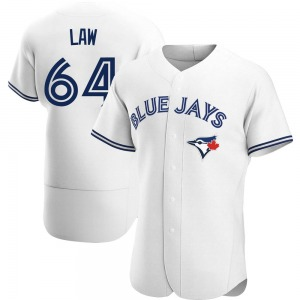 Derek Law Toronto Blue Jays Authentic Home Jersey - White
