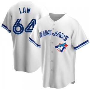 Derek Law Toronto Blue Jays Replica Home Cooperstown Collection Jersey - White