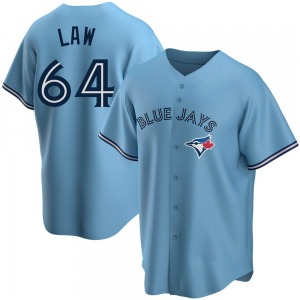 Derek Law Toronto Blue Jays Youth Replica Powder Alternate Jersey - Blue