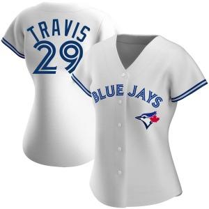 Devon Travis Toronto Blue Jays Women's Authentic Home Jersey - White