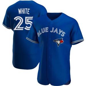 Devon White Toronto Blue Jays Authentic Royal Alternate Jersey - White