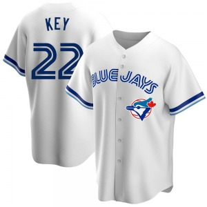 Jimmy Key Toronto Blue Jays Youth Replica Home Cooperstown Collection Jersey - White