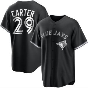 Joe Carter Toronto Blue Jays Replica Black/ Jersey - White