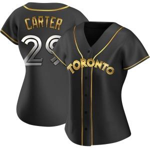 Joe Carter Toronto Blue Jays Women's Replica Alternate Jersey - Black Golden