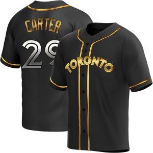 Joe Carter Toronto Blue Jays Youth Replica Alternate Jersey - Black Golden