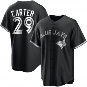 Joe Carter Toronto Blue Jays Youth Replica Black/ Jersey - White