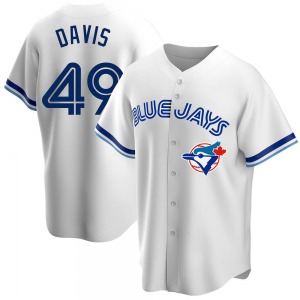 Jonathan Davis Toronto Blue Jays Youth Replica Home Cooperstown Collection Jersey - White