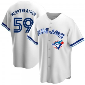 Julian Merryweather Toronto Blue Jays Replica Home Cooperstown Collection Jersey - White