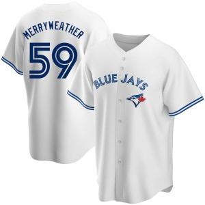 Julian Merryweather Toronto Blue Jays Replica Home Jersey - White