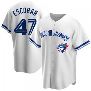 Kelvim Escobar Toronto Blue Jays Youth Replica Home Cooperstown Collection Jersey - White