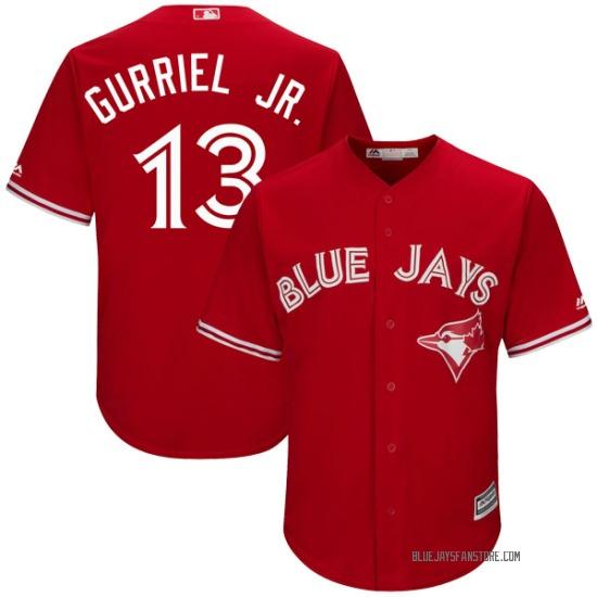 Lourdes Gurriel Jr. Toronto Blue Jays Replica Cool Base Alternate Majestic Jersey - Scarlet