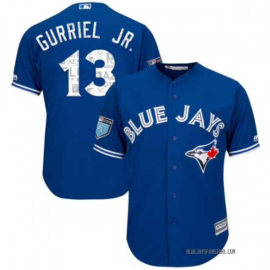 Lourdes Gurriel Jr. Toronto Blue Jays Youth Replica Cool Base 2018 Spring Training Majestic Jersey - Royal