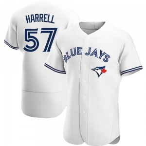 Lucas Harrell Toronto Blue Jays Authentic Home Jersey - White