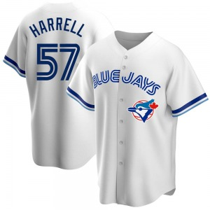 Lucas Harrell Toronto Blue Jays Youth Replica Home Cooperstown Collection Jersey - White