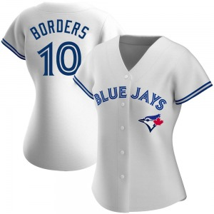 Pat Borders Toronto Blue Jays Women's Authentic Home Jersey - White