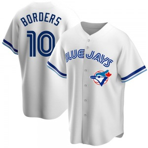 Pat Borders Toronto Blue Jays Youth Replica Home Cooperstown Collection Jersey - White
