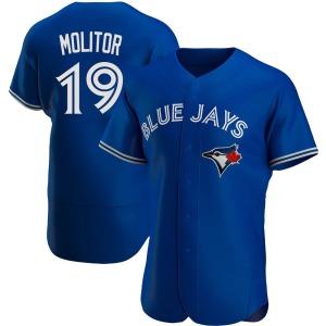 Paul Molitor Toronto Blue Jays Authentic Alternate Jersey - Royal