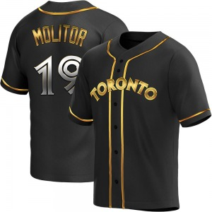 Paul Molitor Toronto Blue Jays Replica Alternate Jersey - Black Golden