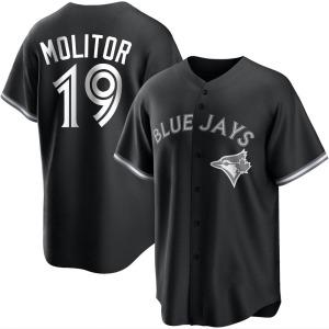 Paul Molitor Toronto Blue Jays Replica Black/ Jersey - White