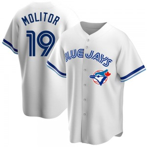 Paul Molitor Toronto Blue Jays Replica Home Cooperstown Collection Jersey - White
