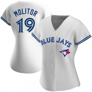 Paul Molitor Toronto Blue Jays Women's Replica Home Jersey - White