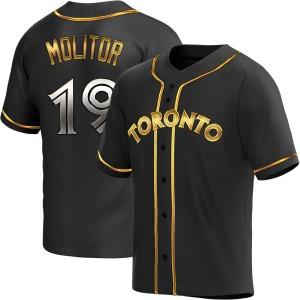 Paul Molitor Toronto Blue Jays Youth Replica Alternate Jersey - Black Golden