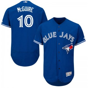 Reese McGuire Toronto Blue Jays Authentic Flex Base Alternate Collection Majestic Jersey - Royal Blue