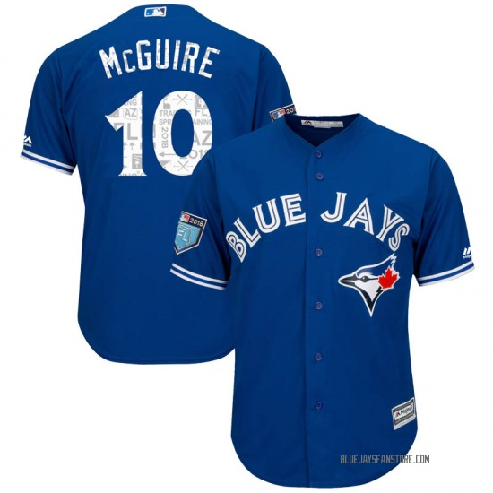 Reese McGuire Toronto Blue Jays Replica Cool Base 2018 Spring Training Majestic Jersey - Royal