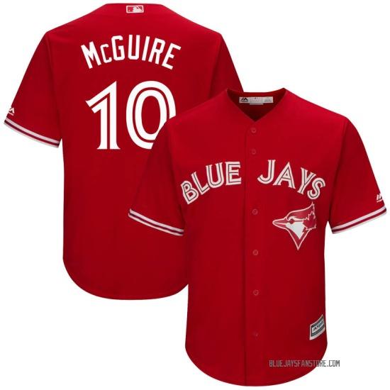 Reese McGuire Toronto Blue Jays Replica Cool Base Alternate Majestic Jersey - Scarlet