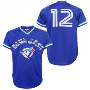 Roberto Alomar Toronto Blue Jays Authentic 1993 Throwback Mitchell and Ness Jersey - Blue