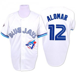 Roberto Alomar Toronto Blue Jays Authentic 1993 Throwback Mitchell and Ness Jersey - White