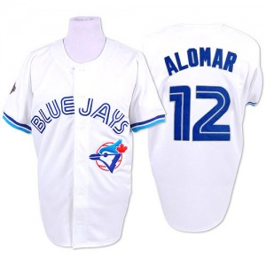 Roberto Alomar Toronto Blue Jays Replica 1993 Throwback Mitchell and Ness Jersey - White
