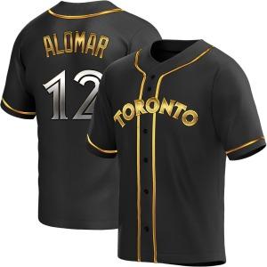 Roberto Alomar Toronto Blue Jays Youth Replica Alternate Jersey - Black Golden