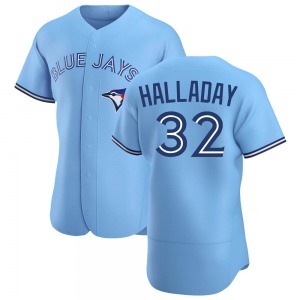 Roy Halladay Toronto Blue Jays Authentic Powder Alternate Jersey - Blue