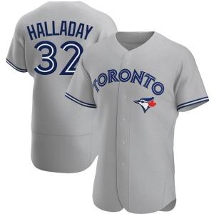 Roy Halladay Toronto Blue Jays Authentic Road Jersey - Gray