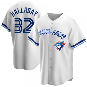 Roy Halladay Toronto Blue Jays Replica Home Cooperstown Collection Jersey - White