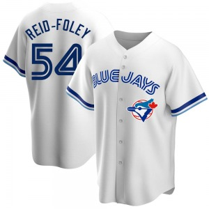 Sean Reid-Foley Toronto Blue Jays Youth Replica Home Cooperstown Collection Jersey - White