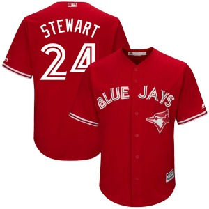 Shannon Stewart Toronto Blue Jays Replica Cool Base Alternate Majestic Jersey - Scarlet